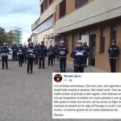 Renato Zero ringrazia i vigili urbani di Perugia