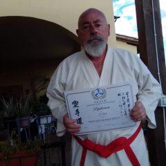 Karate, per il maestro Bonizi c'è il 9° Dan