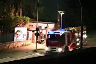 Terni, principio d'incendio in un cantiere
