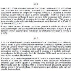 Covid Umbria: scuola, sport, spostamenti, Halloween – Ordinanza