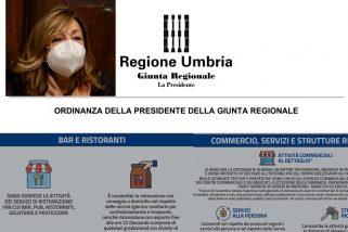 Nuova ordinanza: ecco cosa (non) si può fare in Umbria fino al 22