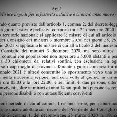 Il testo del Decreto Legge di Natale (.pdf)