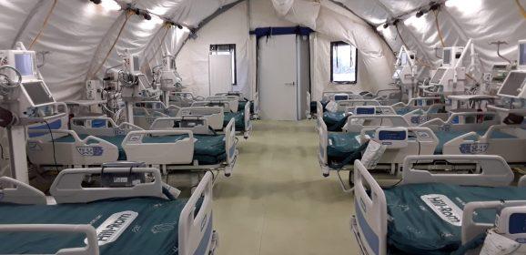 Ospedale da campo Regione: via libera da mercoledì con 22 posti