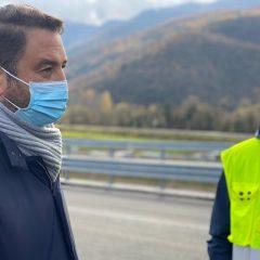 Nuovi svincoli Terni-Rieti, c'è Cancelleri per collaudo viadotto
