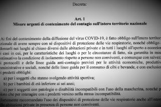 LEGGI – Decreto Legge e nuovo Dpcm (.pdf)
