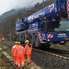 Frana di Giuncano, lavoro concluso e linea ferroviaria riattivata