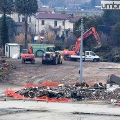 PalaTerni, affidamento per ultime demolizioni. Montaggi in arrivo