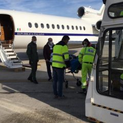 Umbria, in volo con il Falcon dell'AM per salvare una 11enne