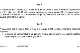 'Arancione rafforzato' dal 1° al 5 marzo, leggi l'ordinanza Umbria