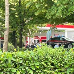 Terni, auto dei carabinieri tamponata in via Alfonsine