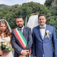Terni, Ilona e Michael dalla Germania per sposarsi alla Cascata