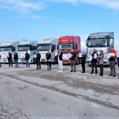 La protesta degli autotrasportatori umbri: «Ascoltateci»